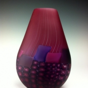 Window Murrini Series purple/pink