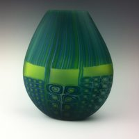 Email Window Murrini Vase in blues and greens #1